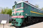 Rail road locomotive — Stock Photo