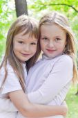 Cute two girls — Stock Photo