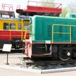 Rail road locomotive — Stock Photo #76906651