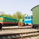 Rail road locomotive — Stock Photo #77008299