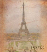 Old paper background with Paris — Stock Photo