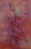 Art watercolor flower — Stock Photo