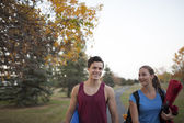 Young adults working out — Stock Photo