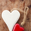 Two wooden hearts — Stock Photo #57319137
