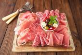 Antipasti Platter of Cured Meat — Stock Photo