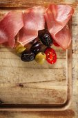 Meat platter of Cured Meat — Stock Photo