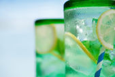 Cocktail with ice — Stock Photo