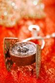 Chocolate Cherry Mini Tartlets — Stock Photo