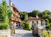 Stone houses in the mountains with balconies — Stockfoto