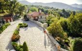 Landscape mountain village — Stock Photo