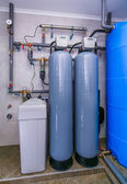 Site wastewater treatment system with sensors and indicators — Stock Photo