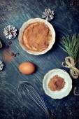 Home-made tiramisu and ingredients for it — Stock Photo