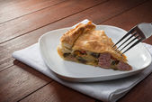 Savoury pie - torta salata — Stock Photo