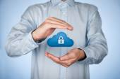 Cloud computing data security — Stockfoto