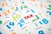 Remind date of tax payment. — Stock Photo