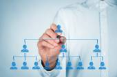CEO, leadreship and corporate hierarchy concept — Stock Photo