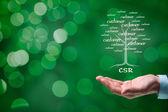 Corporate social responsibility concept — Stock Photo