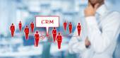 CRM and customers concept — Stock Photo