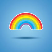 Vector icon of rainbow — Stock Vector