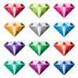 Vector collection of diamonds — Stok Vektör #54897215