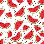 Vector watermelon seamless pattern — Stock Vector