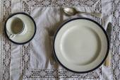 18th Century table ware place setting — Stock Photo