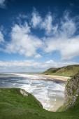 Beautiful Summer landscape of Rhosilli Bay beach Gower peninsula — Stockfoto