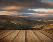View along Swaledale in Yorkshire Dales National Park during Aut — Stock Photo