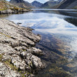 Stunning landscape of Wast Water with reflections in calm lake w — Stock Photo #75977971