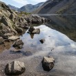 Stunning landscape of Wast Water with reflections in calm lake w — Stock Photo #77183077