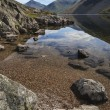 Stunning landscape of Wast Water and Lake District Peaks on Summ — Stock Photo #78918030