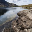 Stunning landscape of Wast Water and Lake District Peaks on Summ — Stock Photo #79718038