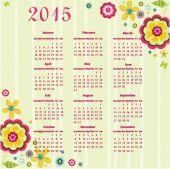 2015 year calendar — Stock Vector