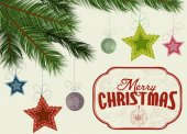 Christmas tree branches background — Stockvektor