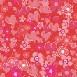 Valentines seamless background — Stock Vector #64186499