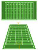 American Football fields — Stock Vector
