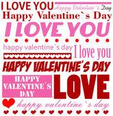 Valentine's Day typographic background — Stock Vector