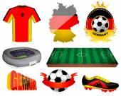 Germany soccer vector illustration — Stock Vector