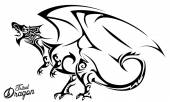 Tribal Dragon — Stock Vector