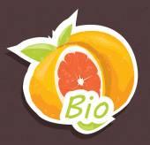 Bio orange tag — Stock Vector