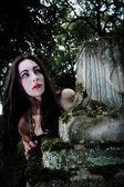 Portrait of hungry vampire — Stock Photo
