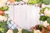 Cauliflower and broccoli — Stock Photo