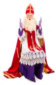 Sinterklaas on white background — Stock Photo