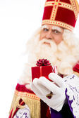 Sinterklaas wyświetlone prezent — Zdjęcie stockowe