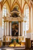 Interior saxon church copsa mare transylvania — Stock Photo