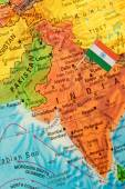 Map with flag of India — Stock Photo