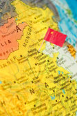 Map with flag of China — Stock Photo