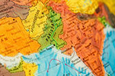 Map of Pakistan and Afghanistan close-up — Stock Photo