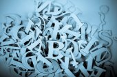 Heap of Latin Letters background — Stock Photo