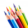 Colourful pencils isolated on a white background — Stock Photo #53054711